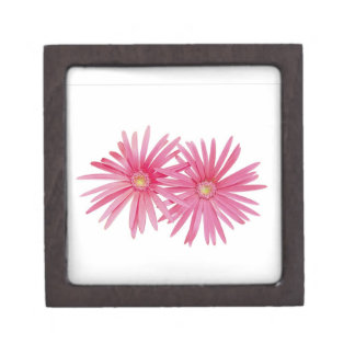 Pink daisy flower on box premium trinket boxes