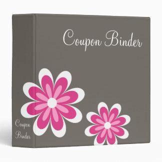 Pink Daisy Flowers Coupon Organizer Vinyl Binder