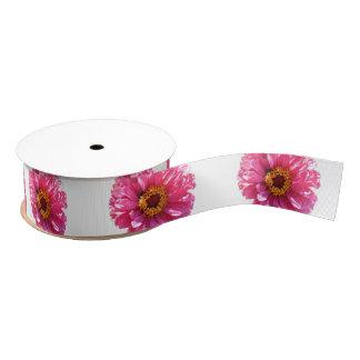 Pink Daisy Grosgrain Ribbon