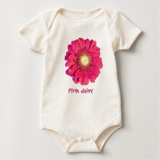 Pink daisy Infant Organic Baby Bodysuit