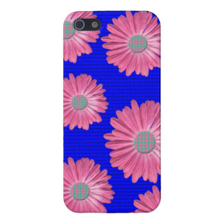 pink daisy iphone 5/5 s matte finish case cover for iPhone 5/5S