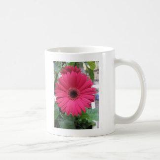 Pink Daisy Classic White Coffee Mug