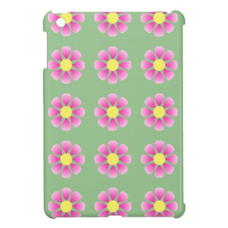 Pink daisy pattern case for the iPad mini