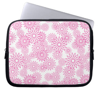Pink Daisy Pattern Laptop Sleeve
