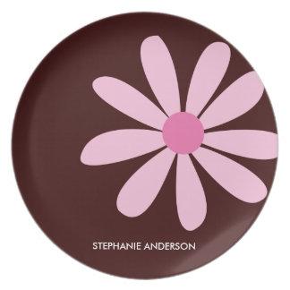 Pink Daisy Personalized Designer Dinnerware/Plate Dinner Plates