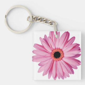 Pink Daisy Petals - Super Cute Single-Sided Square Acrylic Keychain