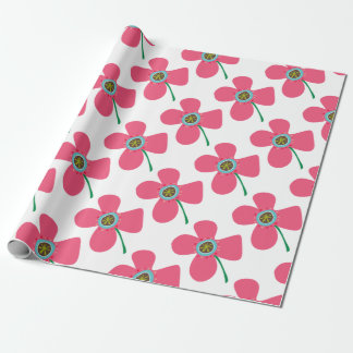 Pink Daisy Pop Flower Whimsical Custom Gift Wrap