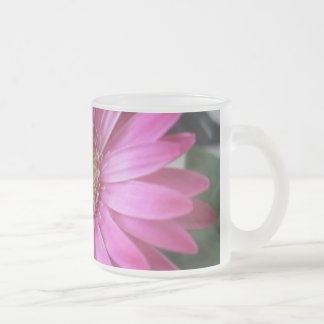 Pink Daisy Princess Frosted Glass Coffee Mug