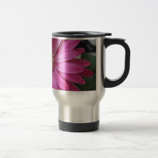 Pink Daisy Princess Stainless Steel Travel Mug