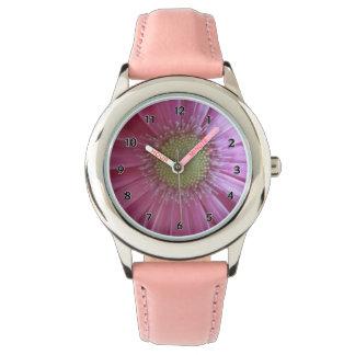 Pink Daisy Princess Watch