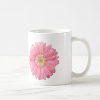 PINK DAISY Single Flower White Background P25A Coffee Mug