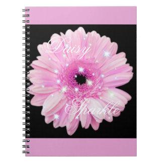 Pink Daisy Sparkle Notebook