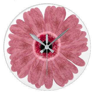 Pink Daisy Wall Clock