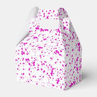 Pink Dalmatian Gable Favor Box