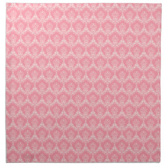Pink damascus cloth napkins, elegant rich pattern