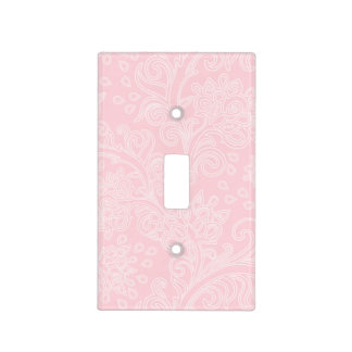 pink damask baby girl nursery bedroom switch plate