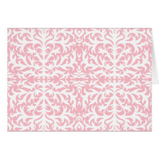 Pink Damask Elegance Card