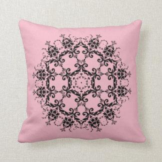 Pink Damask Flower Designed Pillow