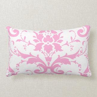 Pink Damask Graphic Lumbar Pillow