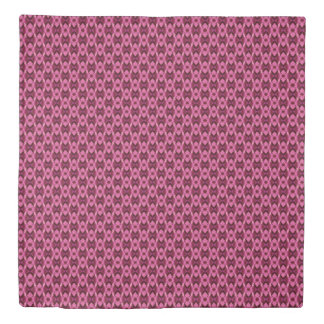 Pink Damask Hearts Duvet Cover