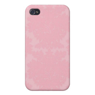 Pink Damask i iPhone 4 Cases