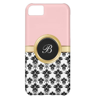 Pink Damask iPhone 5C Cases