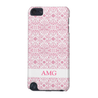 Pink Damask Lace Pattern iPod Touch 5G Covers