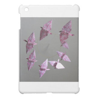 Pink Damask Origami Spiral Mobile iPad Mini Cover