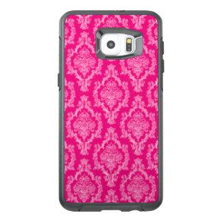 Pink Damask Pattern Print design OtterBox Samsung Galaxy S6 Edge Plus Case