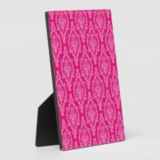 Pink Damask Pattern Print Plaque