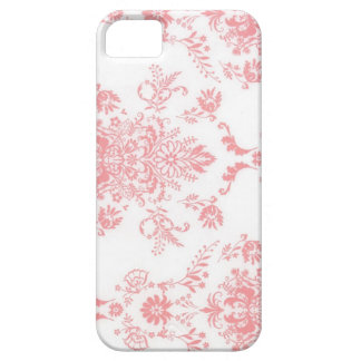 Pink Damask Print iPhone 5 Cases