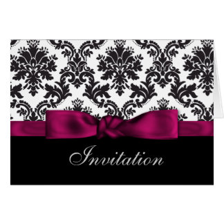 pink damask wedding Invitations