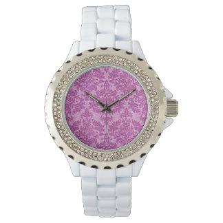 Pink Damask Wristwatch