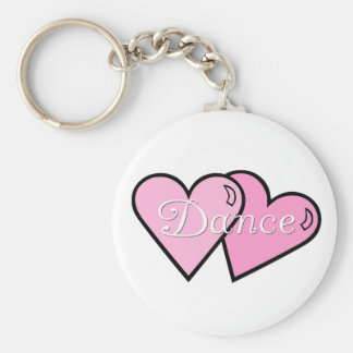 Pink Dance Hearts Keychain