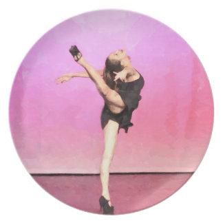 Pink Dancer art plate