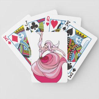 Pink Dancing Girl Bicycle Playing Cards