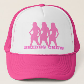 Pink dancing girls, brides crew trucker hat
