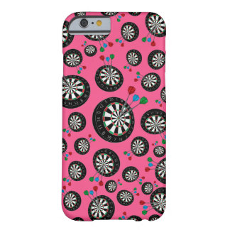 Pink dartboards barely there iPhone 6 case