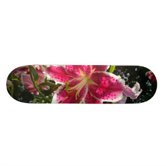 Pink Day lilies Custom Skate Board