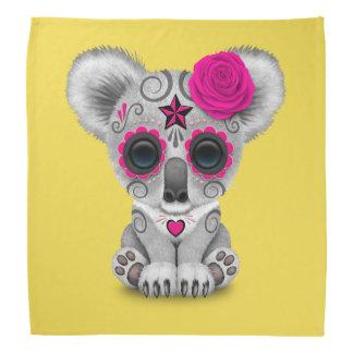Pink Day of the Dead Baby Koala Bandana