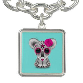 Pink Day of the Dead Baby Koala Bracelet