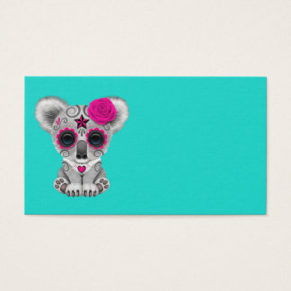 Pink Day of the Dead Baby Koala Business Card