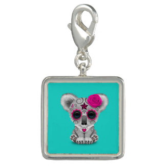 Pink Day of the Dead Baby Koala Charm