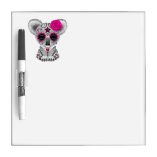 Pink Day of the Dead Baby Koala Dry Erase Board