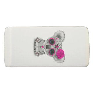 Pink Day of the Dead Baby Koala Eraser