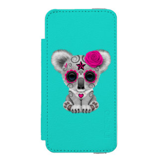 Pink Day of the Dead Baby Koala Incipio Watson™ iPhone 5 Wallet Case