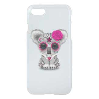 Pink Day of the Dead Baby Koala iPhone 8/7 Case