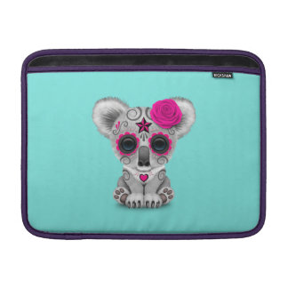 Pink Day of the Dead Baby Koala MacBook Sleeve