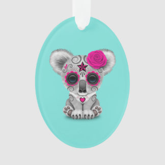 Pink Day of the Dead Baby Koala Ornament