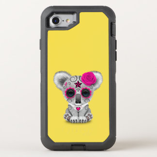 Pink Day of the Dead Baby Koala OtterBox Defender iPhone 8/7 Case